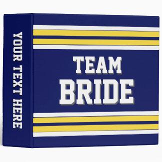 Team Bride Sports Jersey Binder