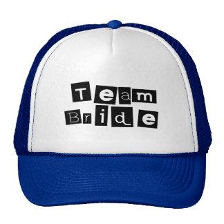 Team Bride (Sq Blk) Trucker Hat