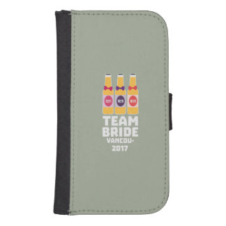 Team Bride Vancouver 2017 Z13n1 Samsung S4 Wallet Case