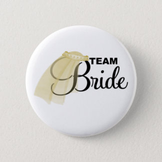 Team Bride (veil) 2 Inch Round Button