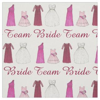 Team Bride Wedding Bridal Party Dress Fabric