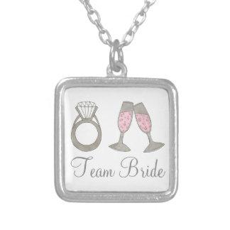 Team Bride Wedding Champagne Bridesmaid Necklace