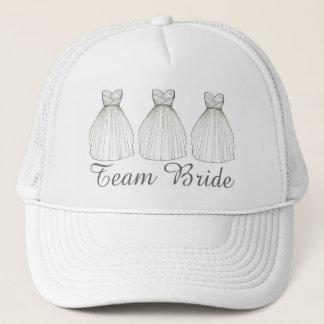 Team BRIDE Wedding Dress Gown Bridal Party Hat