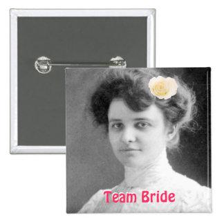 Team Bride Wedding Favors Button