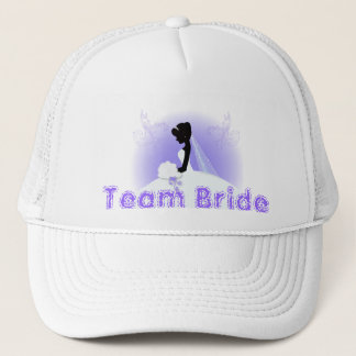 Team bride Wedding gown Bride bridal silhouette Trucker Hat