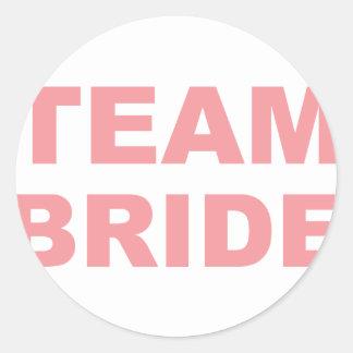 Team Bride Wedding Hen Party Classic Round Sticker