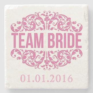 Team Bride wedding stone coasters Save the Date Stone Beverage Coaster