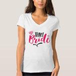 Team Bride Wedding T-shirt Brush Script Typography