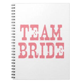 Team Bride Western Pink Notebooks