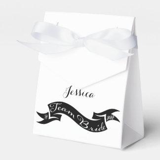 Team Bride XO Heart Ribbon Favor Box