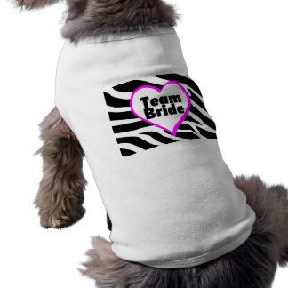 Team Bride (Zebra Print) Pet T-shirt