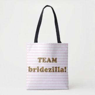 Team Bridezilla | Funny Tigerprint Tote Bag