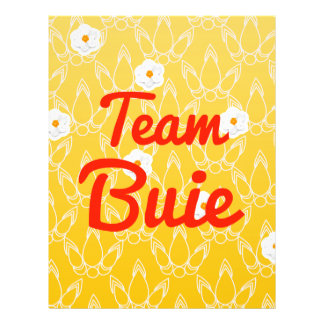 Team Buie Personalized Flyer