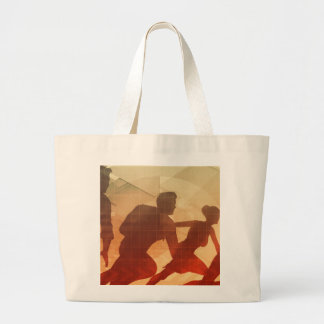 Team Building Activities to Increase Morale Large Tote Bag