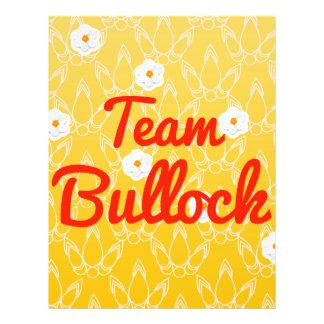 Team Bullock Personalized Flyer