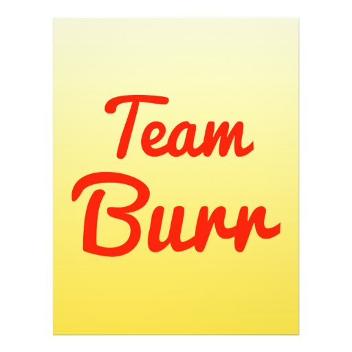 Team Burr Personalized Flyer