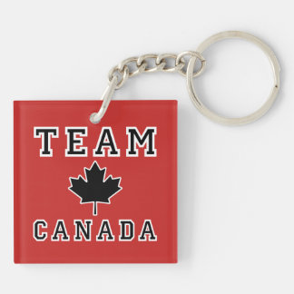 Team Canada Double-Sided Square Acrylic Keychain