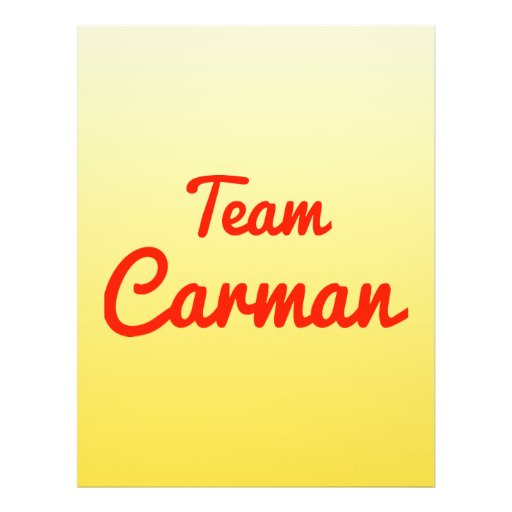 Team Carman Flyer Design