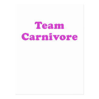 Team Carnivore Postcard
