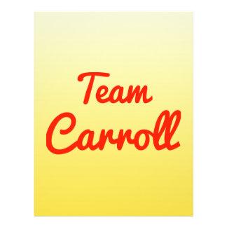 Team Carroll Flyer