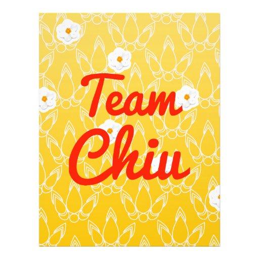 Team Chiu Custom Flyer
