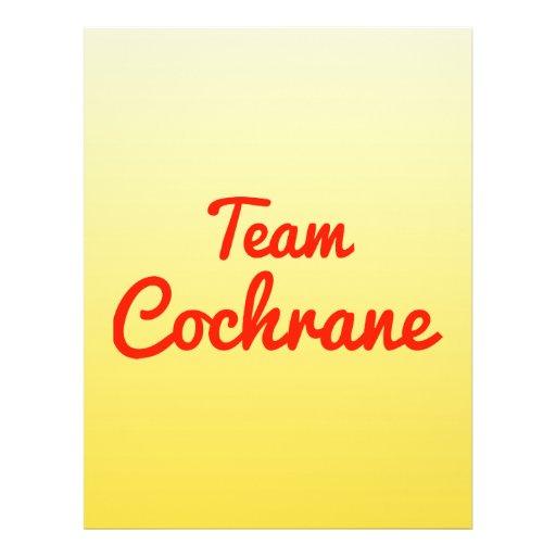 Team Cochrane Custom Flyer