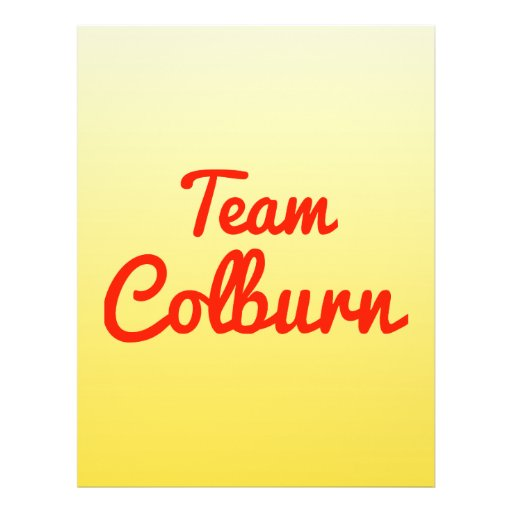 Team Colburn Personalized Flyer