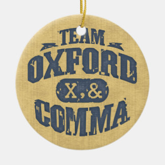 Team Comma Ceramic Ornament