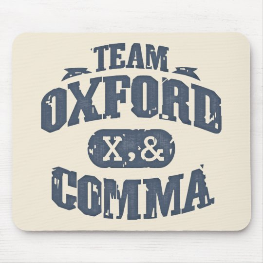 Team Comma Mouse Pad
