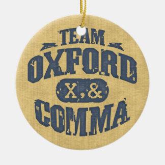 Team Comma Round Ceramic Ornament