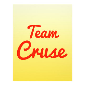 Team Cruse Personalized Flyer