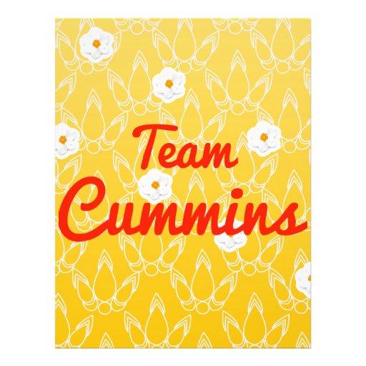 Team Cummins Full Color Flyer