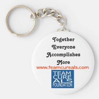 TEAM CURE ALS FOUNDATION KEYCHAINS