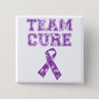 Team Cure (Purple) 2 Inch Square Button