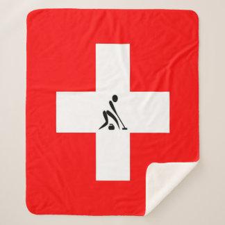 Team Curling Switzerland Sherpa Blanket