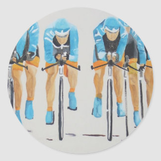 team cycle race classic round sticker