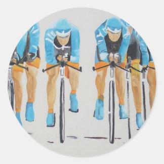 team cycle race round sticker