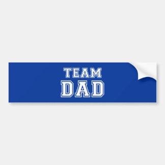 Team Dad in blue Bumper Sticker