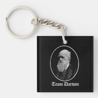 Team Darwin - Team Evolution - - Pro-Science - - w Single-Sided Square Acrylic Keychain