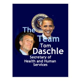 Team Daschle Postcard