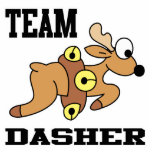 Team Dasher Reindeer Acrylic Cut Outs
