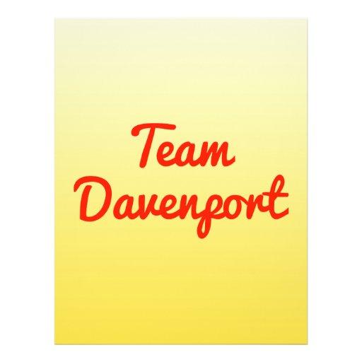 Team Davenport Custom Flyer