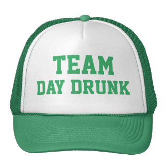 TEAM DAY DRUNK ST. PATRICK'S DAY CAP TRUCKER HAT