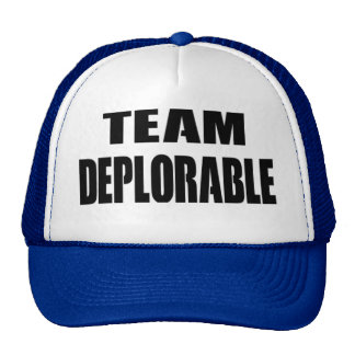 """TEAM DEPLORABLE"" hat for you and friends"