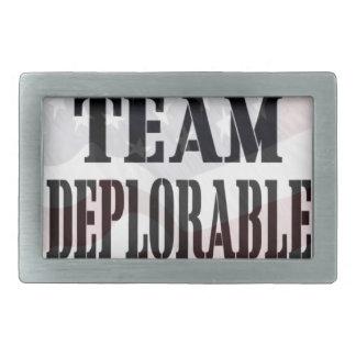 """Team Deplorable"" Rectangular Belt Buckle"