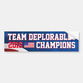 TEAM DEPLORABLES 2016 USA CHAMPIONS! BUMPER STICKER