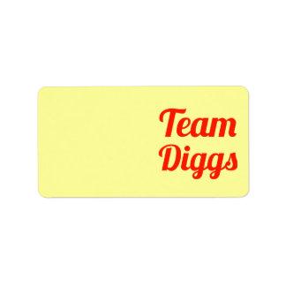 Team Diggs Address Label