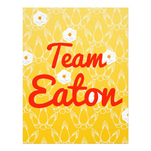 Team Eaton Personalized Flyer