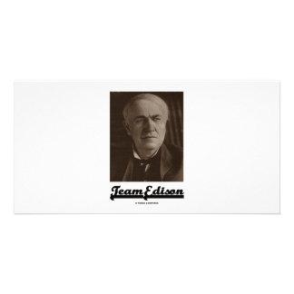 Team Edison (Thomas Alva Edison) Custom Photo Card