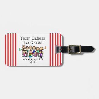 Team Endless Ice Cream Luggage Tag